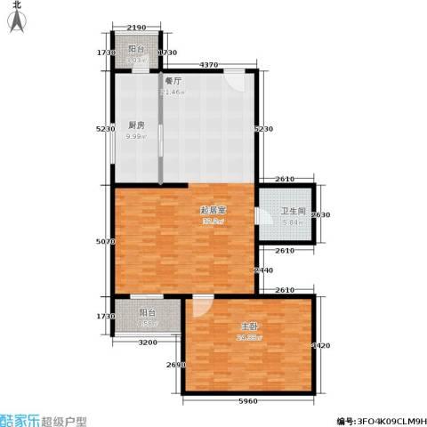 天泽园1室1厅1卫1厨111.00㎡户型图