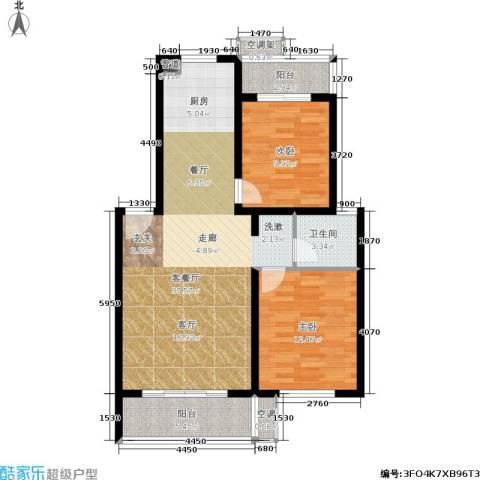 竹满人家2室1厅1卫0厨88.00㎡户型图