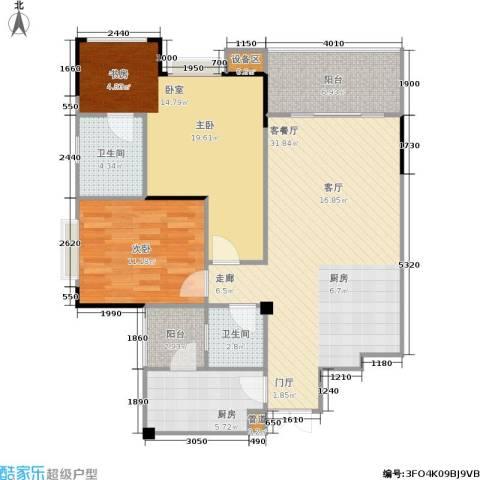 圣豪帝景2室1厅2卫1厨117.00㎡户型图