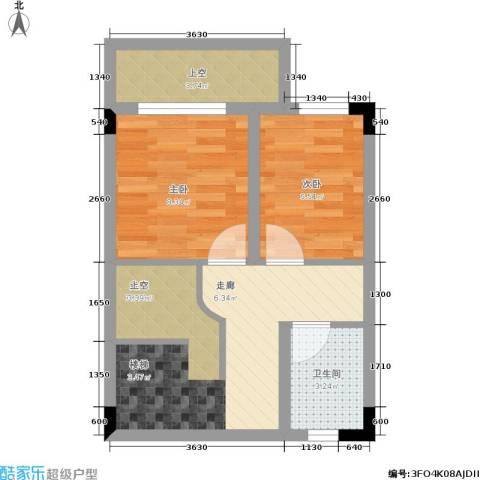 唐庄2室0厅1卫0厨87.00㎡户型图