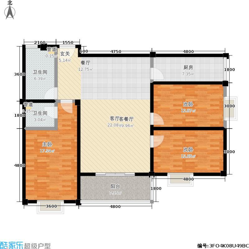 仁寿雅居户型3室1厅2卫1厨
