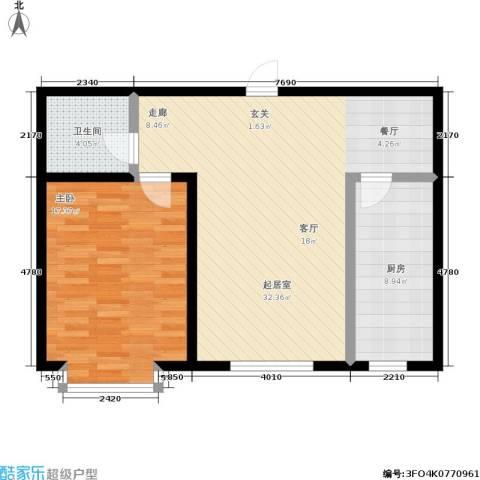 幻景家园1室0厅1卫1厨89.00㎡户型图