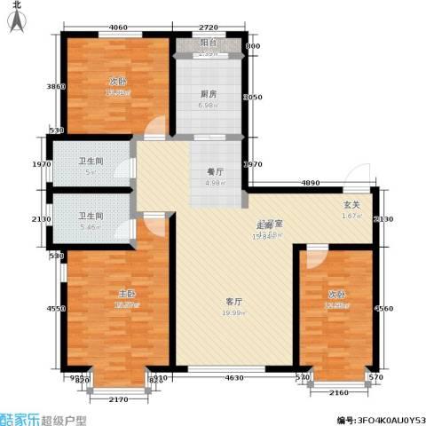 幻景家园3室0厅2卫1厨154.00㎡户型图
