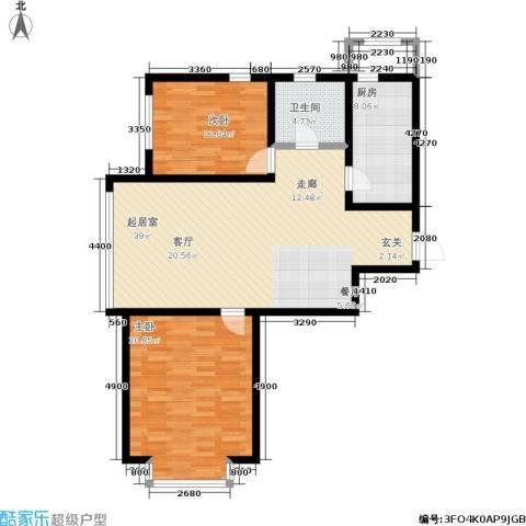 幻景家园2室0厅1卫1厨118.00㎡户型图