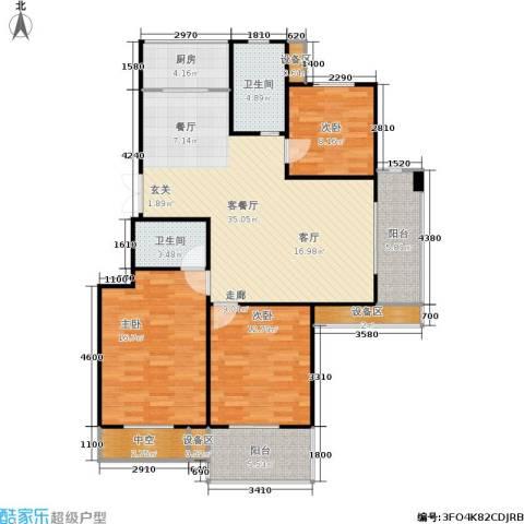 西城印象3室1厅2卫1厨112.00㎡户型图