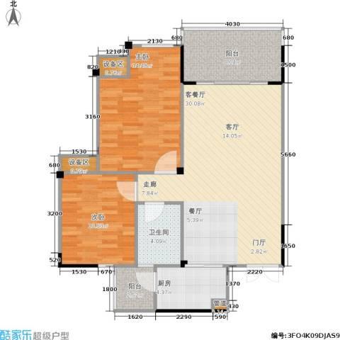 圣豪帝景2室1厅1卫1厨103.00㎡户型图
