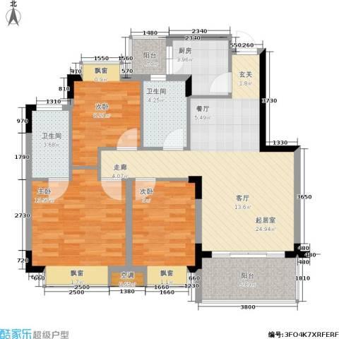 都市阳光(己售馨)3室0厅2卫1厨109.00㎡户型图