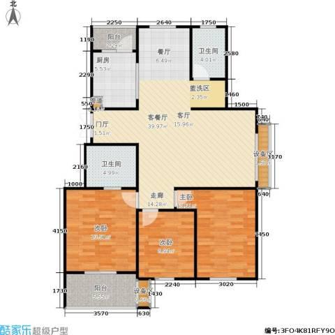 西城印象3室1厅2卫1厨119.00㎡户型图
