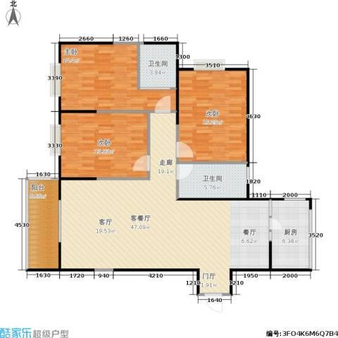 佳馨尊邸3室1厅2卫1厨125.00㎡户型图