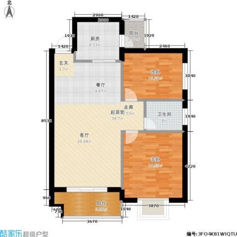 三城花苑2室0厅1卫1厨88.00㎡户型图