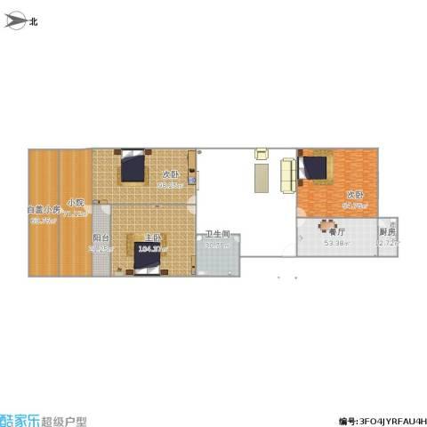 鑫达小区3室1厅1卫1厨710.00㎡户型图