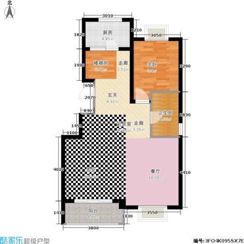 九城尚都1室0厅1卫1厨95.00㎡户型图
