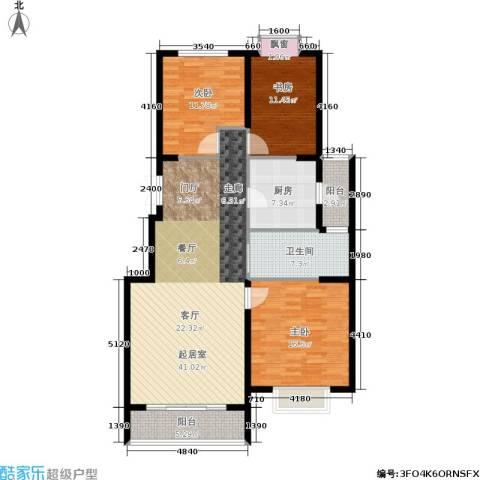 东湖山庄・碧云阁3室0厅1卫1厨107.00㎡户型图
