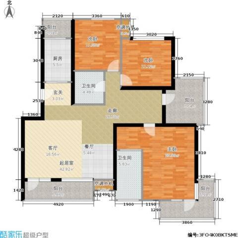 城市天籁3室0厅2卫1厨140.00㎡户型图