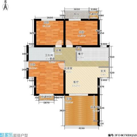 格林生活坊一期3室0厅1卫0厨90.02㎡户型图