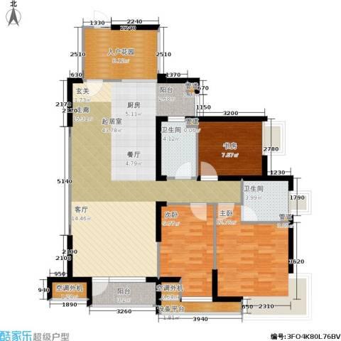 格林生活坊一期3室0厅2卫0厨137.00㎡户型图