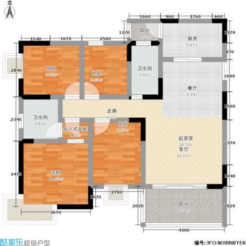 黄金堡生活家4室0厅2卫1厨100.00㎡户型图