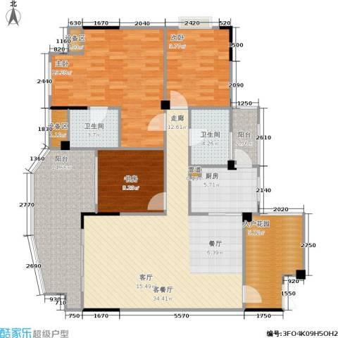 圣豪帝景3室1厅2卫1厨154.00㎡户型图
