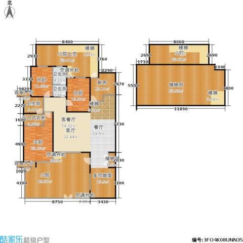 万科新榆公馆二期3室1厅3卫1厨405.00㎡户型图