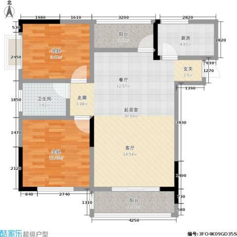 康贤雅居2室0厅1卫1厨96.00㎡户型图