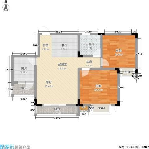 康贤雅居2室0厅1卫1厨78.00㎡户型图