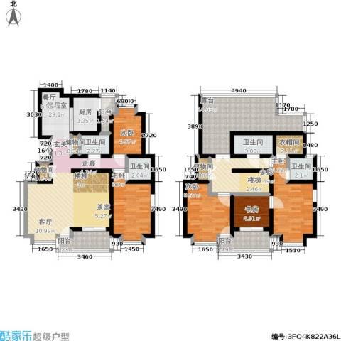 新世界花园5室0厅4卫1厨137.00㎡户型图