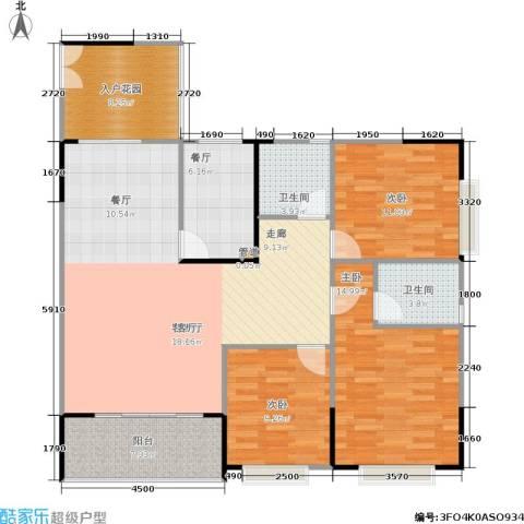 银海北极星3室2厅2卫0厨138.00㎡户型图