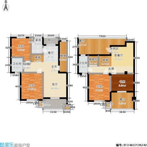 湖滨1号4室2厅2卫1厨231.00㎡户型图