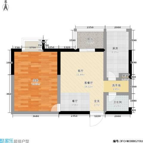 嘉天广场1室1厅1卫1厨53.00㎡户型图