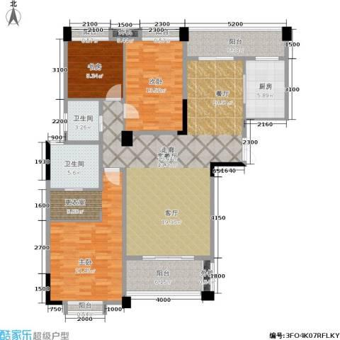 保利花园三期3室1厅2卫1厨146.00㎡户型图