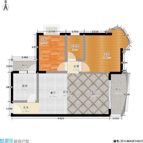 志龙大厦2室0厅1卫1厨73.00㎡户型图