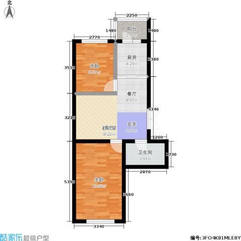 丽景花园2室0厅1卫1厨60.00㎡户型图