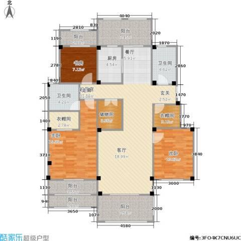 翠颐恬园一期3室0厅2卫1厨134.00㎡户型图