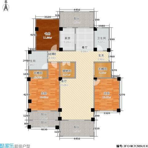 翠颐恬园一期3室0厅2卫1厨159.00㎡户型图