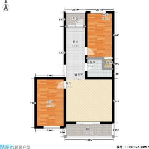 丽景花园2室0厅1卫0厨76.00㎡户型图
