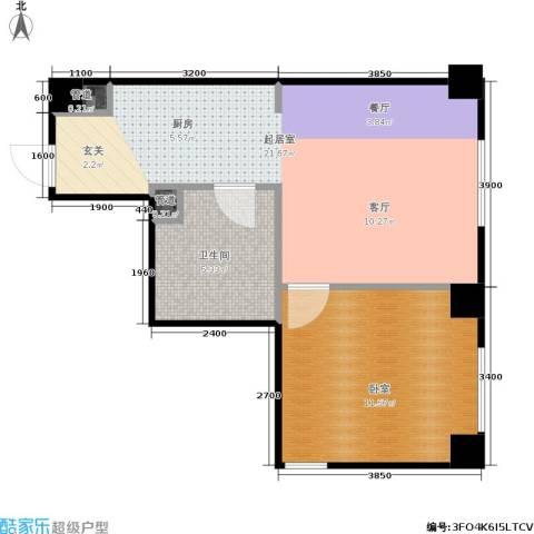 时代大厦酒店式公寓1卫0厨59.00㎡户型图