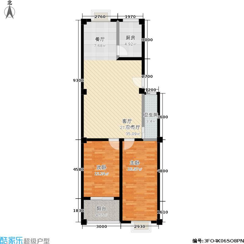 仁寿雅居户型2室1厅1卫1厨