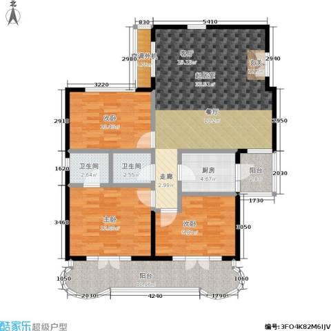 海韵楼3室0厅2卫1厨92.00㎡户型图