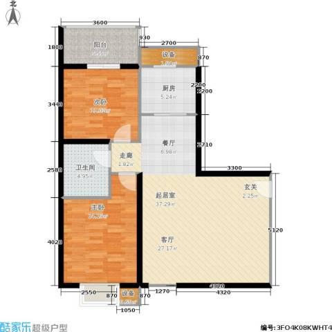 曲江雁唐府邸2室0厅1卫1厨89.87㎡户型图