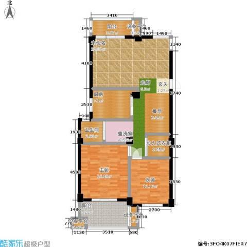 湖滨1号2室1厅1卫1厨138.00㎡户型图