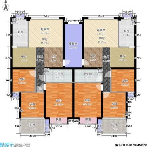 泰时・三湘金地6室0厅2卫2厨183.99㎡户型图