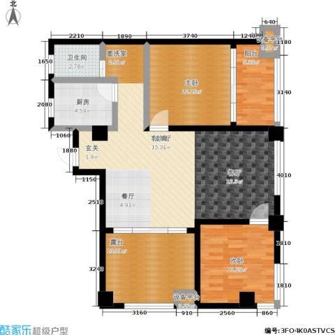湖滨1号2室1厅1卫1厨120.00㎡户型图