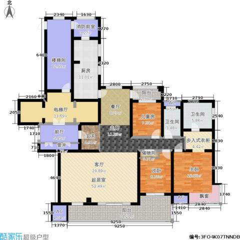 万科玲珑湾 玲珑湾3室0厅2卫1厨193.00㎡户型图
