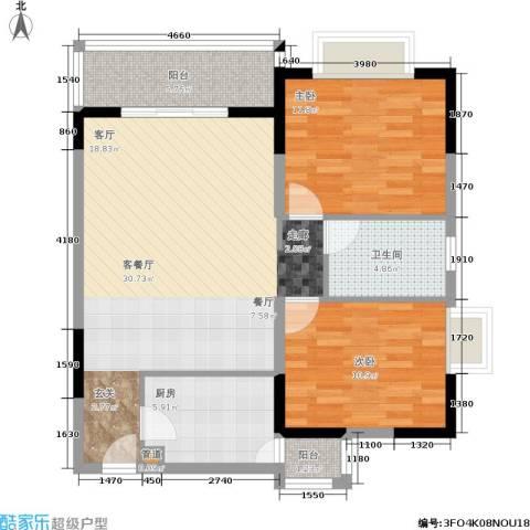 石韵桂园2室1厅1卫1厨101.00㎡户型图