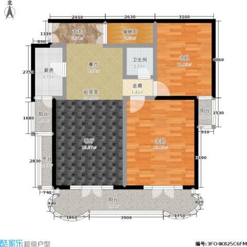海韵楼2室0厅1卫1厨87.00㎡户型图