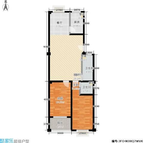 仁寿雅居2室1厅2卫1厨88.00㎡户型图
