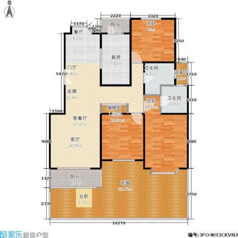 虹康景博苑3室1厅2卫1厨140.00㎡户型图