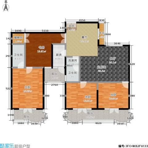 海韵楼4室0厅2卫1厨151.00㎡户型图