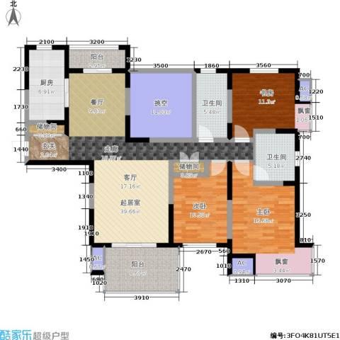 万科玲珑湾 玲珑湾3室0厅2卫1厨140.00㎡户型图