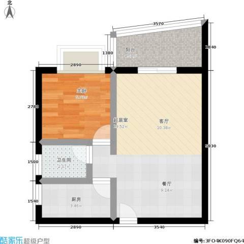 南桥静月1室0厅1卫1厨43.00㎡户型图